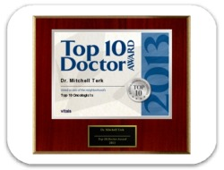 Top                            10 Doctors Award 2013 - Dr. Mitchell Terk